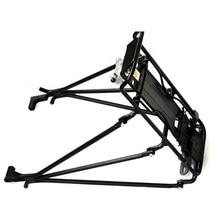 цена на Cycling MTB Aluminum Alloy Bicycle Carrier Rear Luggage Rack Shelf Bracket for Disc Brake/V-brake Bike Black