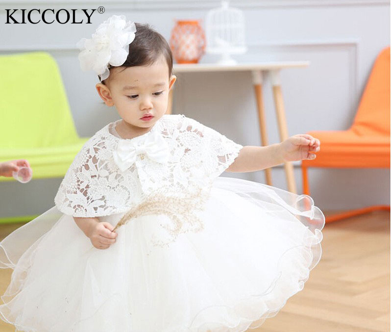 2016 Hot Sale Baby Birthday Party Kids Dress Baby Girl Christening Gowns Baby Girl Baptism Dresses Factory Direct 9120