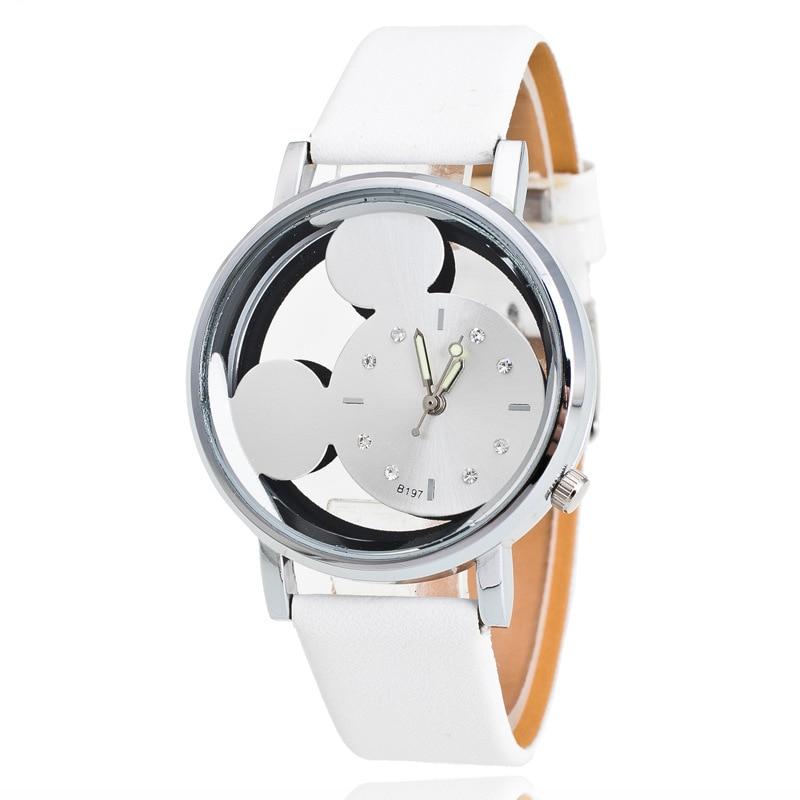 Brand Leather Quartz Watch Women Children Girl Boy Kids Fashion Bracelet Ladies Wristwatches Clock Relogio Feminino Cartoon