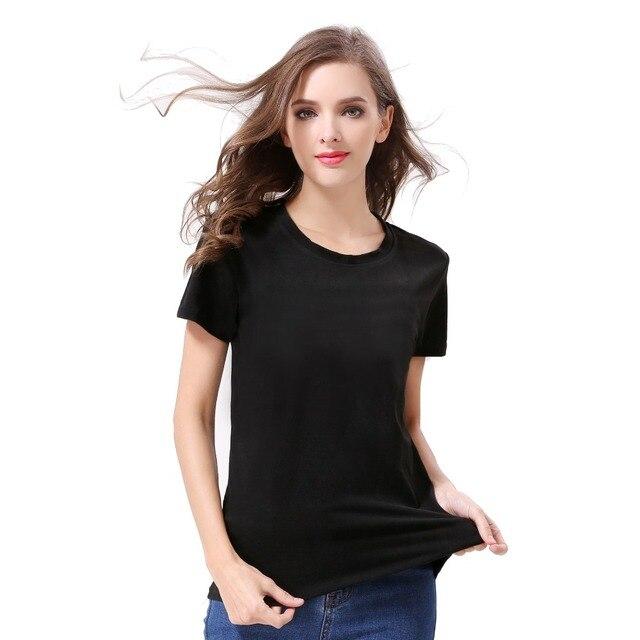 2017 Модные женские летние футболки одежда с коротким рукавом с круглым вырезом из чистого хлопка яркие цвета 7 цветов на выбор, бесплатная доставка