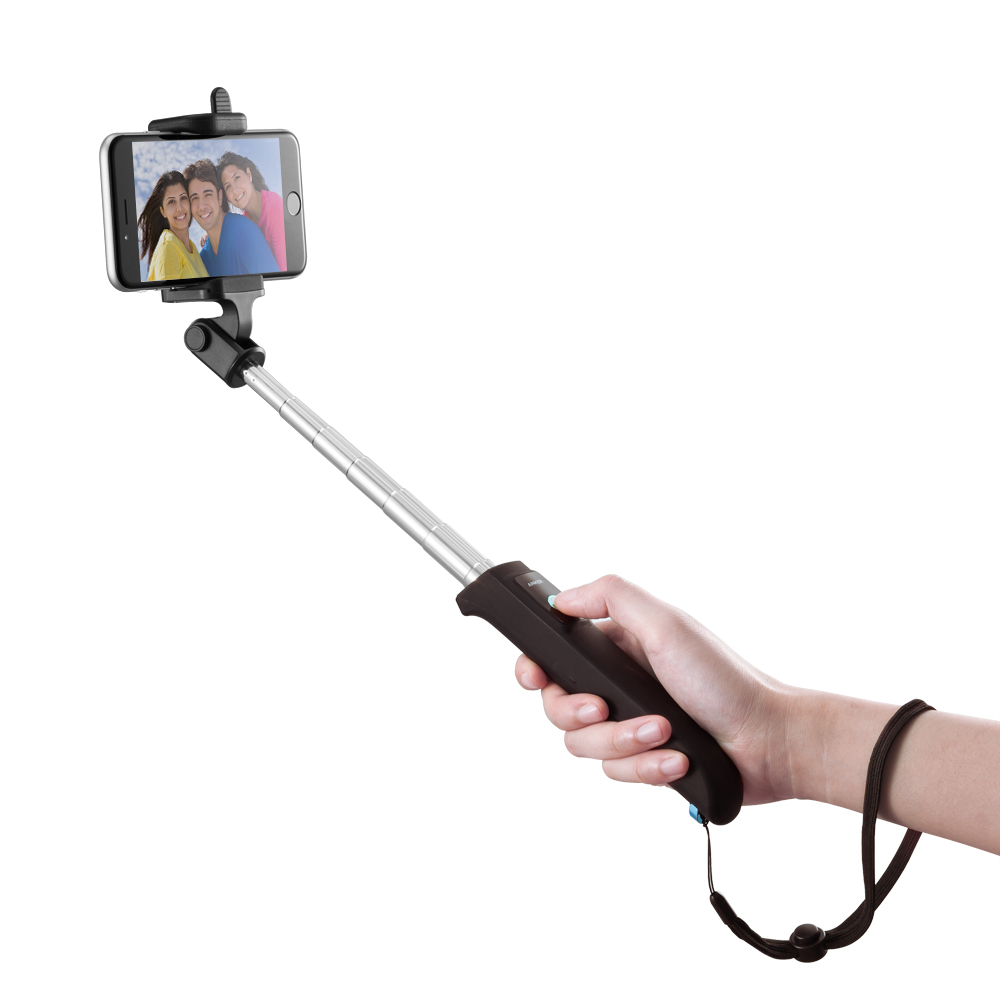 buy selfie stick anker extendable bluetooth monopod with built in remote. Black Bedroom Furniture Sets. Home Design Ideas