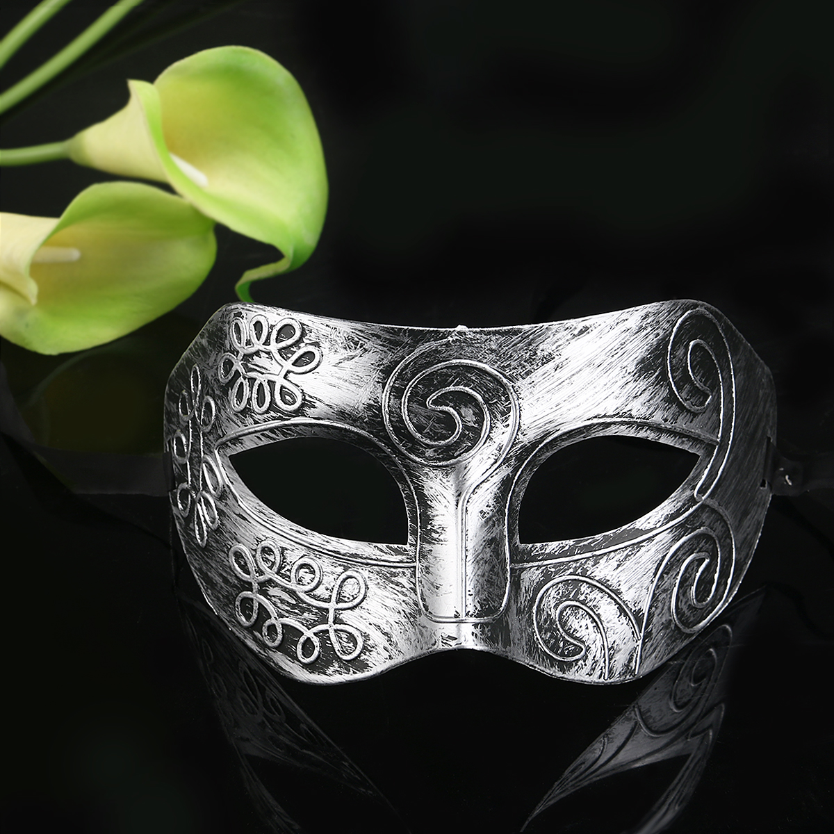 Roman Mens Masquerade Face Mask Greek NEW Express Post Avail Silver /& Red