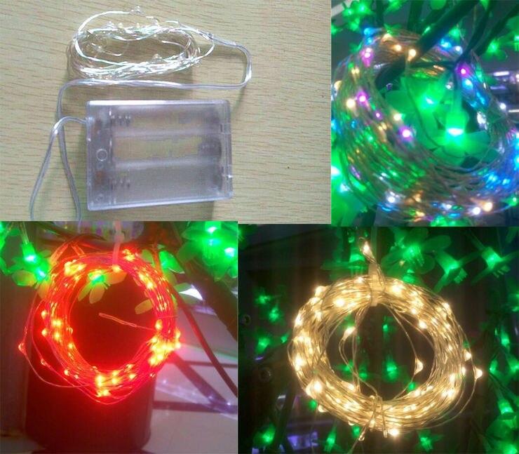 3M 10FT 30 LEDS 5V String Silver Copper Wire LED Light Great For Decorating Bedroom Party Garden Etc.