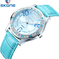 SKONE Luxury Clock Woman Fashion Designer Leather Strap Quartz-watch Ladies Watch Brand Women Watches for Girl Reloj Mujer 9243