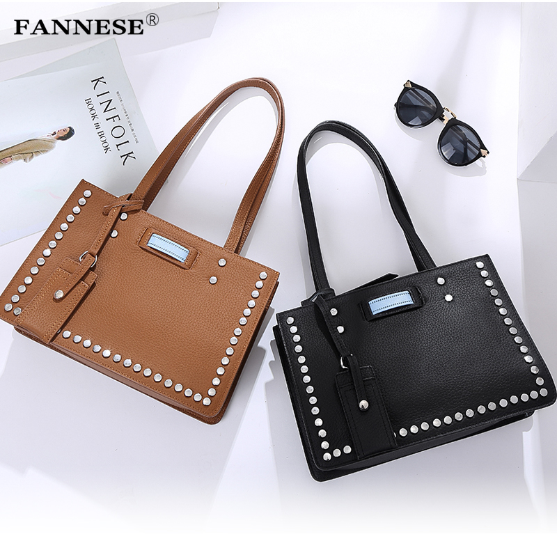 Fashion handbags leather Crossbody handbag ladies satchel handbag brand design Shoulder Handbag female rivet bag genuine leather studded satchel bag women s 2016 saffiano cute small metal rivet trapeze shoulder crossbody bag handbag