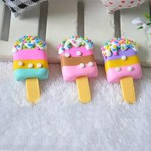 Diy resin accessories Kawaii ice cream Charms Pendants refrigerator stickers storage box key chain Jewelry Making