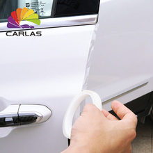 CARLAS شفافة الذاتي لاصق الباب حافة فيلم الطلاء حماية PVC شحن مجاني