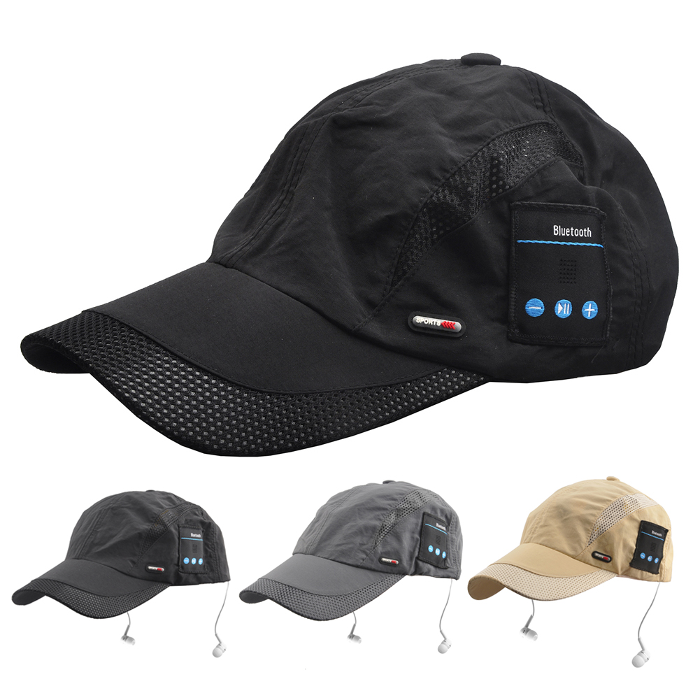 Summer Unisex Bluetooth Hat Cap Hat Headset  Mic Hand-free Music Mp3 Sport Smart Cap Baseball Cap Headset Sports Hat v4 0 edr bluetooth baseball hat