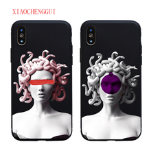 Soft silicone For iphone X XR XS MAX Medusa Vaporwave Glitch Art Coque Phone Case Cover Shell IPhone 5s 5 6 6s 8 7 Plus case