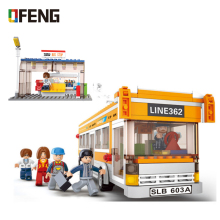City Bus Building Blocks Sets Compatible  Creator Model Car Bricks Figures Educational Toys for Children Gifts цены онлайн