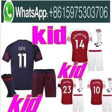 918c742d7cd 2018 2019 Arsenal Gunners 3rd kids kits+socks soccer jersey 18 19 ALEXIS  XHAKA GIROUD CHAMBERS OZIL football kids kit socks