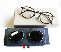 New York Eyeglasses Frames Or Sunglasses men women Optical Titanium prescription eyeglasses TB710 with clip and Original box