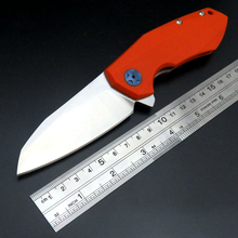 New Arrival 0456 Folding Camping Knife Bearing Knives Steel Blade G10 Handle Tactical Outdoor Hunting Tool EDC Tools