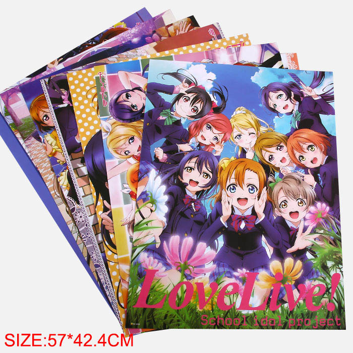 8pcs / erä LoveLive Julisteet Love Live Poster 8 Eri mallit Big Sizes 57x42 CM
