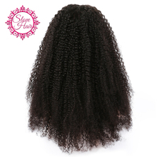 Slove 150% Glueless Lace Front Human Hair Wig for Black Women Pre Pluck Afro Kinky Curly Wig with Baby Hair Brazilian Remy Hair