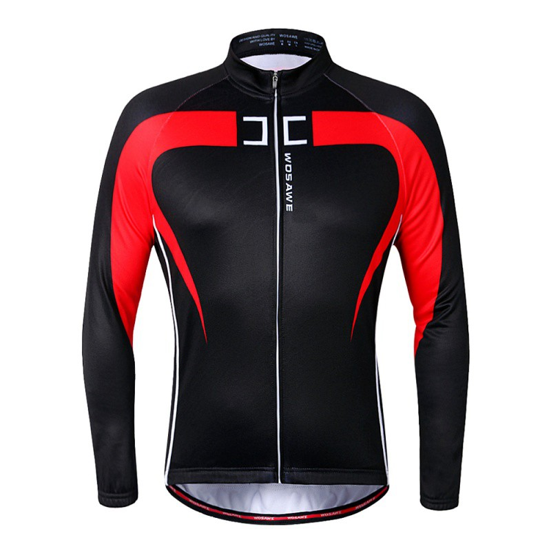 Bicycle Cycle Clothing Mens Cycling Jersey Long Sleeve Outdoor Sports Quick-drying Riding Color Patchwork Clothes 2 Colors