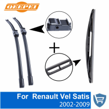 Front and Rear Wiper Blade no Arm For Renault Vel Satis 2002-2009 High quality Natural Rubber windscreen 28''+26''R