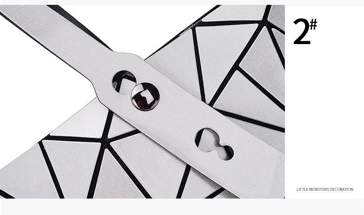 WSYUTUO Handbag Female Folded Ladies Geometric Plaid Bag Fashion Casual Tote Women Handbag Shoulder Bag 13