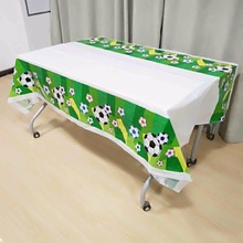 132cm*220cm Football Party supplies happy Birthday kid Decorations plastic Soccer Supplies Disposable Tablecloth set