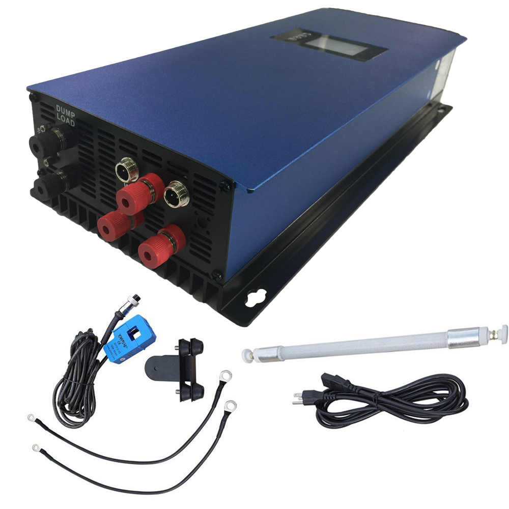 2000W wind inverter for 3 phase AC wind turbine generator with dump load resistor 2000G2WAL-LCD limiter/wifi optional