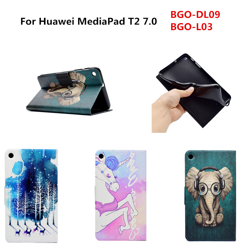 High Quality Ultra Thin Folio Soft TPU Back +PU Leather Stand Cute Cover Case For Huawei Mediapad T2 7.0 BGO-DL09 BGO-L03 Tablet new fashion pattern ultra slim lightweight luxury folio stand leather case cover for huawei mediapad t2 pro 10 0 fdr a01w a03l page 5