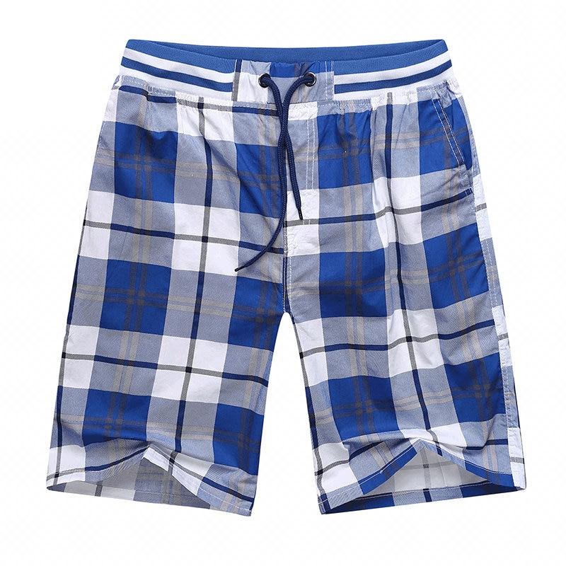 drop shipping men summer beach   shorts   plaid bermuda masculina leisure moletom masculino cotton   board     shorts   5XL AYG327