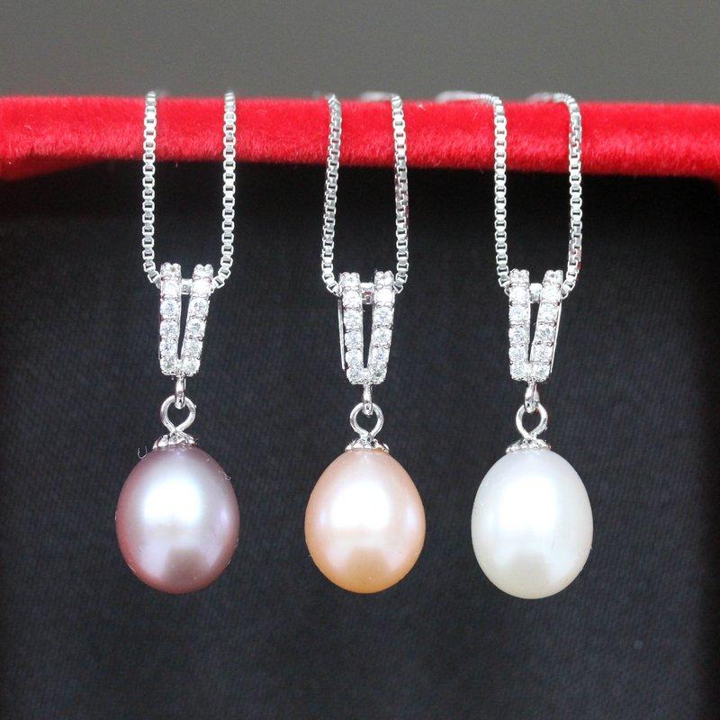 ZHBORUINI 2019 Juego de joyas de perlas Collar de perlas de agua - Joyas - foto 3