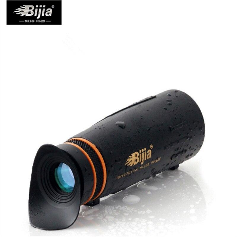 BIJIA mit schatten goggles10x42 Monokulare teleskop HD vision nicht-infrarot Jagd teleskop Unterstützung Tropfen verschiffen