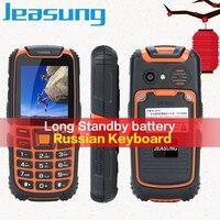 JEASUNG teXet S6 IP67 Waterproof Phone 2500mAh Battery Long Standby Loud Sound Shockproof Phone Elder Phone Russian Keyboard