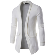 SexeMara Loose Long Mens Cardigans Sweaters with deer New Fashion Mens Sweater pull homme is