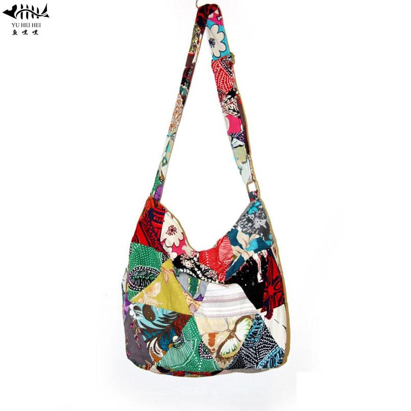 Adjustable Floral Flower Patchwork Handmade Hippie Bohemian Bags Shoulder Crossbody Messenger Bag Girl Handbag