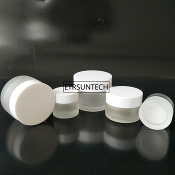 100pcs 5g 10g 20g 30g 50g Glass Cream Jars Cosmetic Packaging with lid plastic caps & inner empty small glass jars F2390