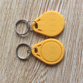 20PCS 13.56MHz Yellow RFID Sensor Proximity IC Key Tags Keyfobs Keychain
