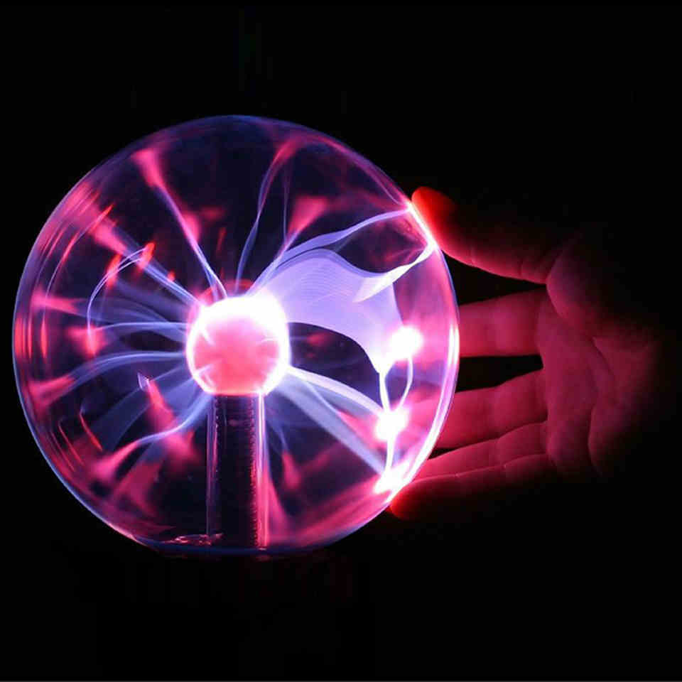 Novelty Magic Plasma Ball Lighting Lightning lamp Induction Night Lights Gift For Kids Home Party Bar Indoor Luminaria Decor high quality magic glass plasma ball