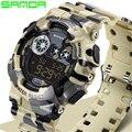 NEW Fashion SANDA Men's Watch Waterproof Outdoor Sports Watches Camo Casual wristwatch LED digital watch relogio masculino 289