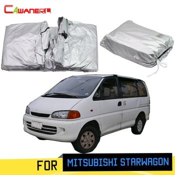 Cawanerl For Mitsubishi Starwagon 1994-2007 Car Cover MPV Sun Shade Anti-UV Rain Snow Scratch Resistant Windproof Cover