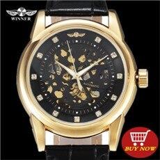 ④Роскошные Для мужчин Часы Forsining Топ Марка Золото ...