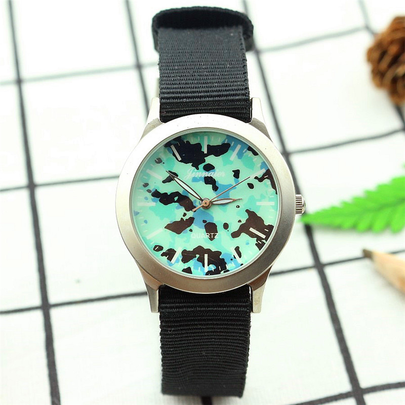 Students Sports Watches New Arrival Fabric Strap Climbing Child And Women Camouflage Military Quartz Wrist Watches Kids Watches