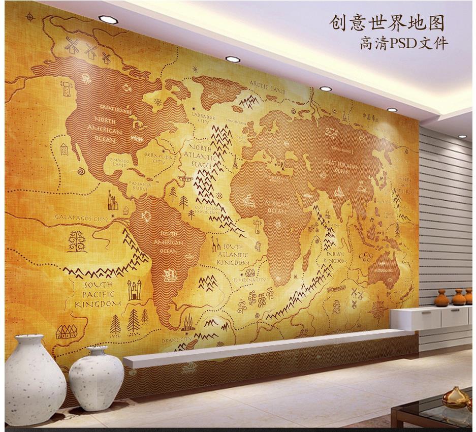 World Map Wall Mural national weather radar map