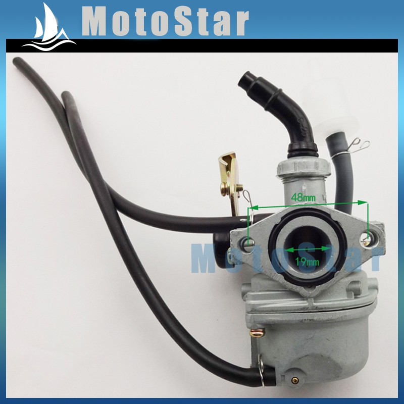 pz19 carb 19mm cable choke carburetor for 50cc 70cc 90cc. Black Bedroom Furniture Sets. Home Design Ideas