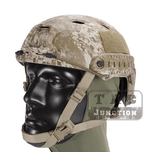 Emerson Tactical Airsoft Fast Helmet Bump Jump BJ Type Advanced Adjustment Combat Lightweight Modular OPS Helmet w/ Side Rail 2015 new kryptek typhon pilot fast helmet airsoft mh adjustable abs helmet ph0601 typhon
