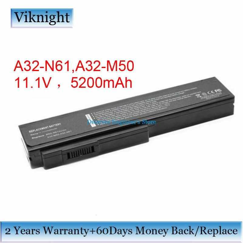 11.1 فولت 5200 مللي أمبير A32-N61 A32-M50 بطارية كمبيوتر محمول ل Asus N53 M50 M50Sr M50Sv M51E M60 N43 N52 X55 L0790C6 l072051 L062066 A33-M50