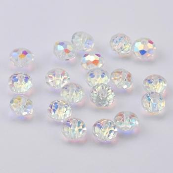 Jakość AAA 4 6 8mm faceted Rondelle Austria koraliki kryształ ab szklane okrągłe koraliki kryształowe luźne koraliki na naszyjnik bransoletka making tanie i dobre opinie QIAO CN (pochodzenie) NONE KRYSZTAŁ zawieszki Okrągły kształt moda RB003 5000 rondelle round beads Crystal bracelet necklace Jewelry making DIY