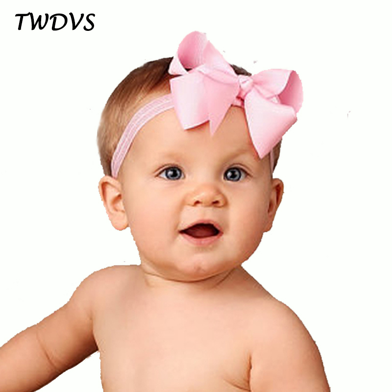 TWDVS Kids Girls Bow Headband Elastic Hair Accessories Bowknot Hair band Ring Hair Accessories Bow Headband hairband W116 3inch girl hair band ribbon bow flower bowknot headband new born elastic hairband wear children newborn kids hair accessories