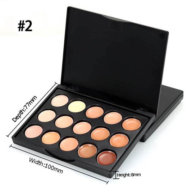 2019 Popfeel Brand Makeup Color Corrector Full Cover Corretive Long Lasting Face Contouring Makeup 15 Colors Concealer Palette 3