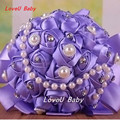 2016 Wedding Flowers Bridal Bouquets 4 Colors Artificial Rose Luxury Diamond Crystal Bouquet Wedding Bling Brides Ramo De Novia