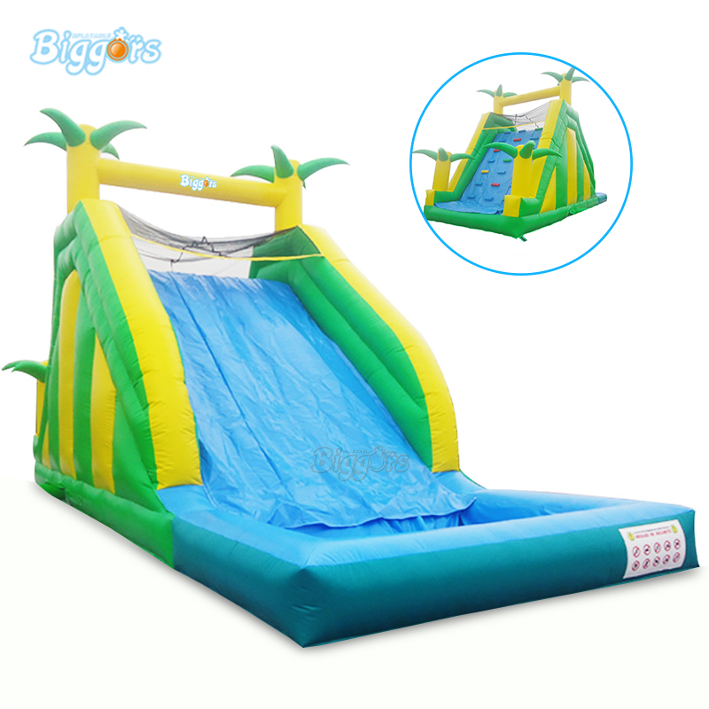 Hot Selling Inflatable water slide pool inflatable climbing wall slide with blowers factory price inflatable backyard water slide pool water park slides pool slide with blower for sale
