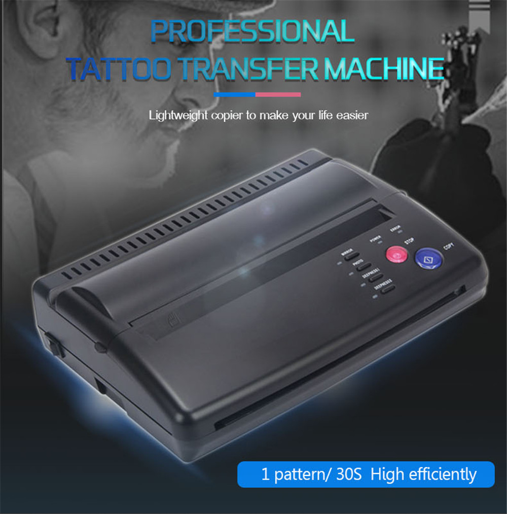 Tattoo Transfer Machine Tattoo Printer Drawing Thermal Stencil Maker Copier For Tattoo Transfer Paper Carbon Papier Supply