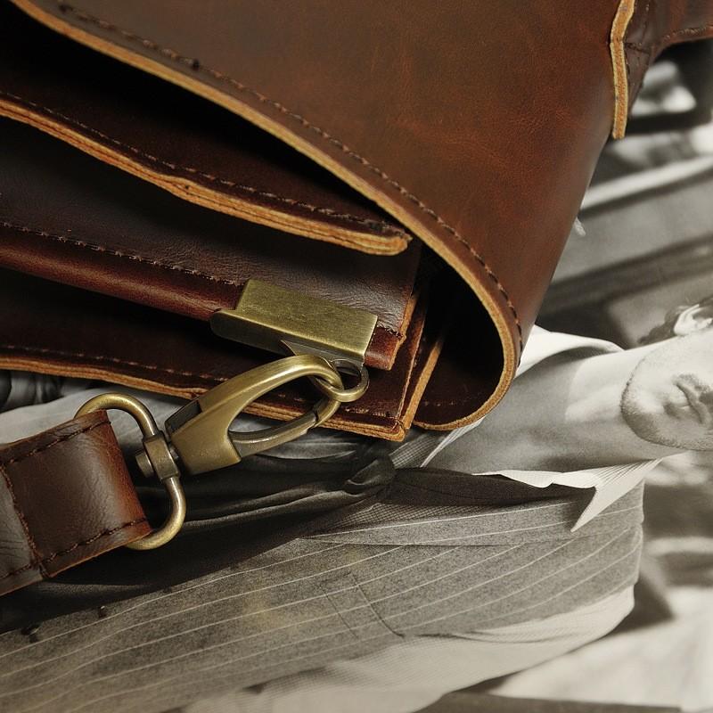 Vintage Men Business Real Genuine Leather Briefcase Travel Causal Shoulder Messenger Portfolio Laptop Bags Lawer Handbag Bolsa (14)