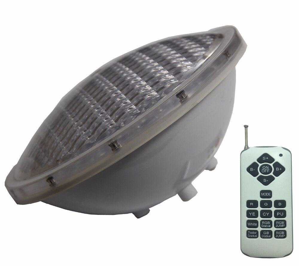 Eclairage Piscine 12V Pool Projector RGB PAR 56 Bulb Multiple Color IP68 Underwater Flood Spotlight 36W Pond Lighting Warm White